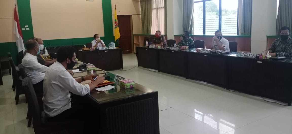 Rapat Koordinasi dengan Forkopimda (Rabu, 09 September 2020)