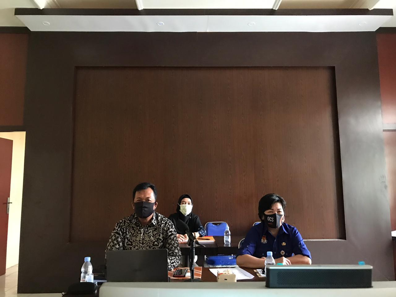 Rakor terkait Evaluasi Anggaran Dana Hibah Pilgub Kalteng Tahun 2020 via Zoom Meeting